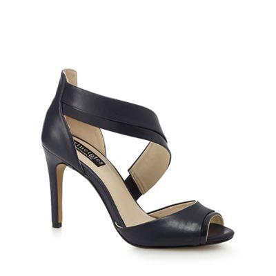 Black 'Bunny' high peep toe sandals
