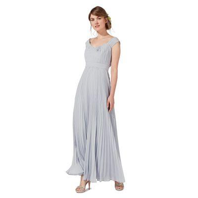 Pale grey 'Petra' evening dress