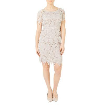Petite leaf lace dress