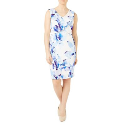 Petite abstract floral dress