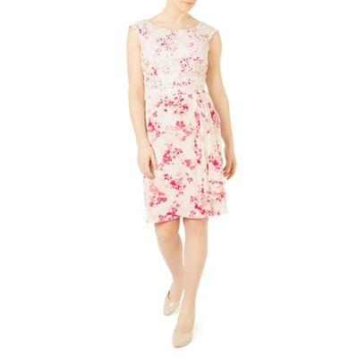 Petite flower and lace dress