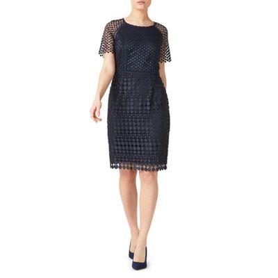 Petite spot lace dress