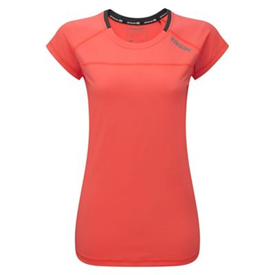 Neon coral finesse TCZ stretch t-shirt