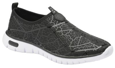 Black 'Hollis' ladies slip on casual sports shoes