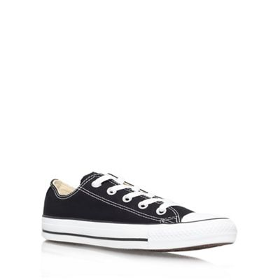 Black 'Chuck Taylor Ox' flat lace up sneaker