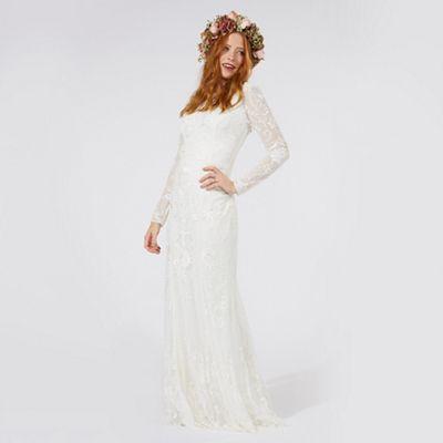 Ivory 'Eligenza' lace bridal dress