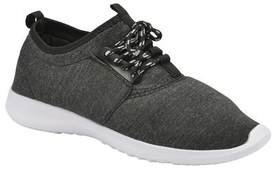 Black 'Amara' ladies lace up casual sports shoes