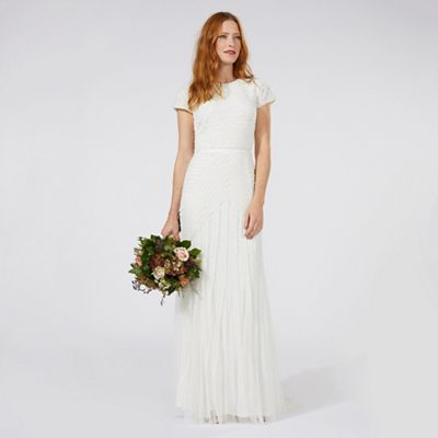 Ivory 'Anabella' frilled bridal dress