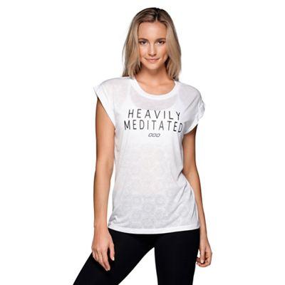 White Meditated Shortsleeve Top