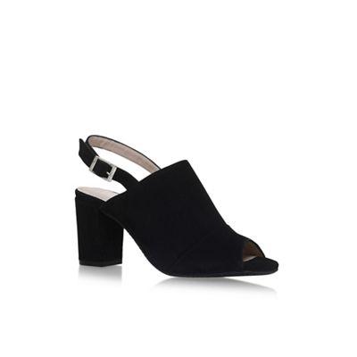 Black 'Accent' high heel sandals