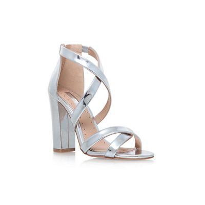 Silver 'Sian' high heel sandals
