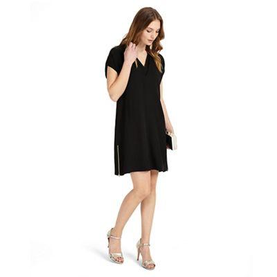 Black vivian v-neck tunic dress