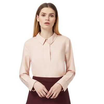Pale pink wide blouse