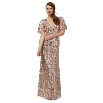 Pink sequinned maxi dress