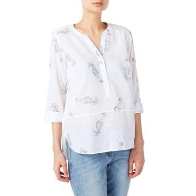 Seahorse linen blouse