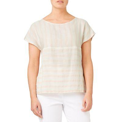 Mixed stripe blouse