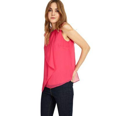 Kylie drape front blouse