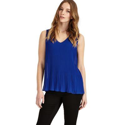 Ella pleated sleeveless blouse