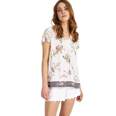 Hummingbird print blouse