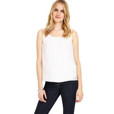 White mai silk blouse