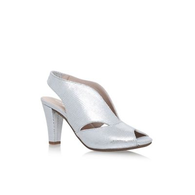 Silver 'Arabella' high heel sandals
