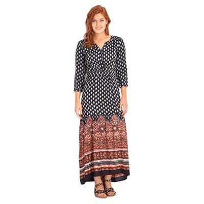 Multi coloured bohemian chic maxi dress