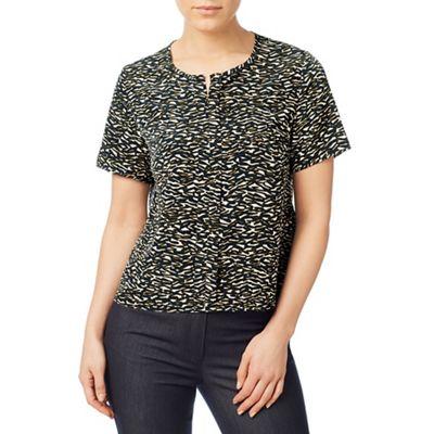 Monotone print blouse
