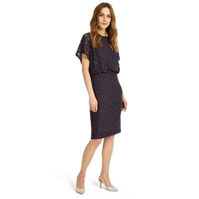 Grey sandra spot burnout dress