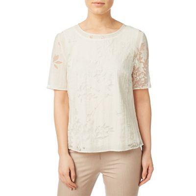 Burnout shell blouse