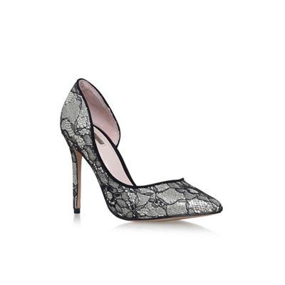 Black 'Glee' high heel court shoes