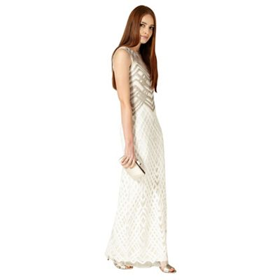 Champagne and ivory eydie dress