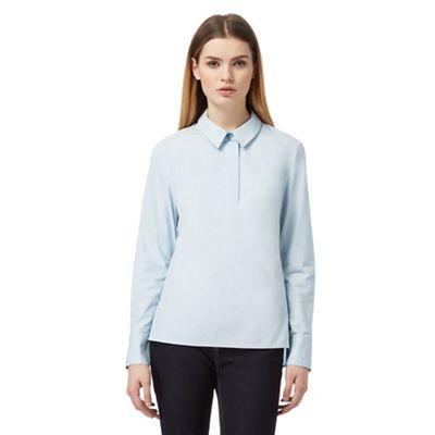 Pale blue wide blouse