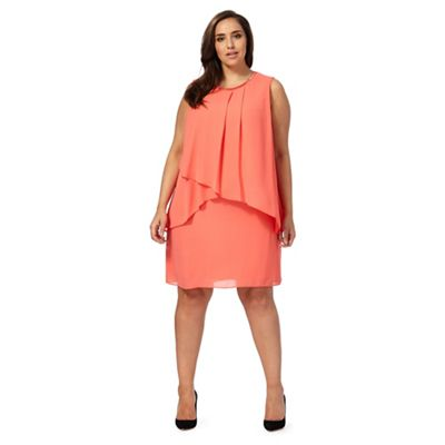 Orange layered plus size dress