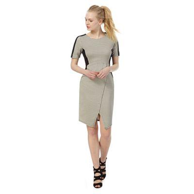 Grey diamond jacquard dress