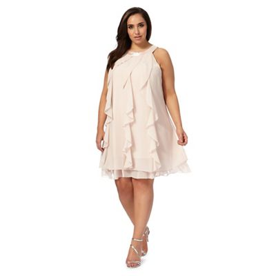 Light pink 'Kara' ruffle plus size dress