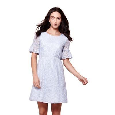 Blue lace tea dress