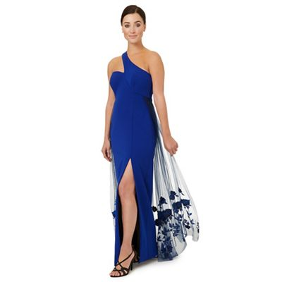 Royal blue 'Lexi' one shoulder dress