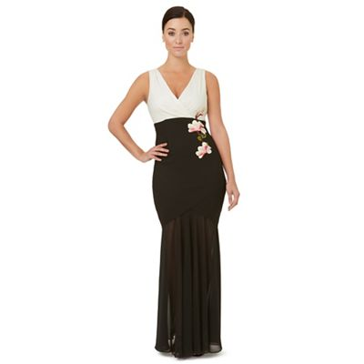 Black motif 'Middleton' evening dress