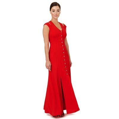 Bright red 'Flavia' evening dress