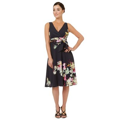 Multicoloured print 'Helena' fit and flare dress