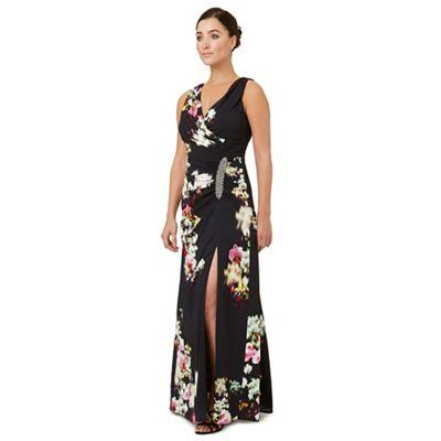 Multicoloured print 'Selina' evening dress