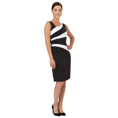 Black panelled 'Bobbie' shift dress