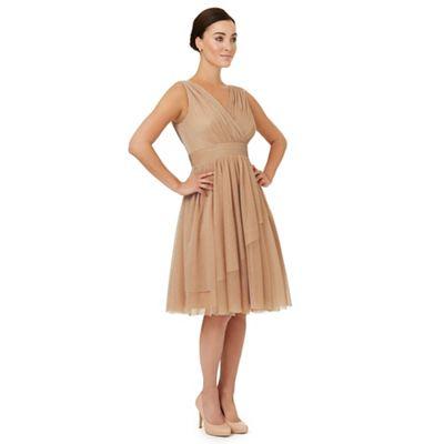 Light gold 'Gracie' bridesmaid dress