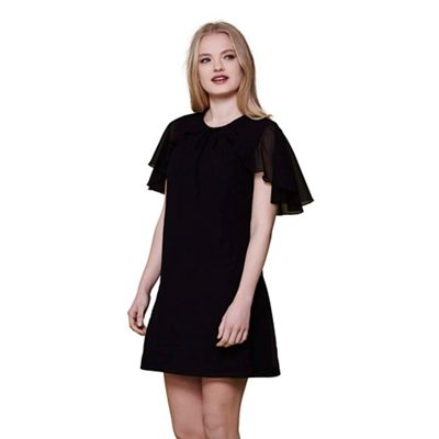 Black georgette tunic dress