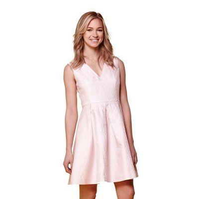 Pink jacquard occasion dress