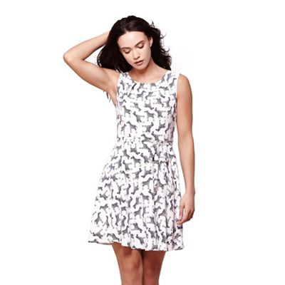 White zebra print dress
