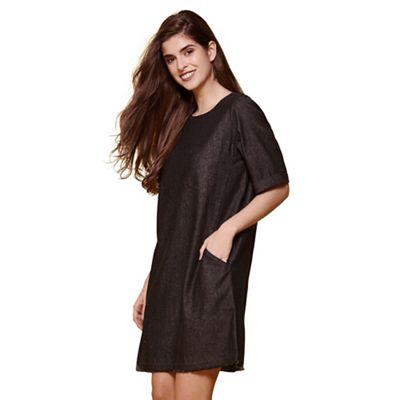 Black yumi denim dress