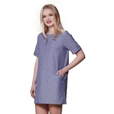 Blue chambray tunic dress