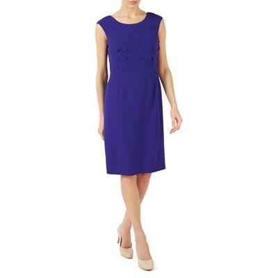 Mid blue scallops layers dress