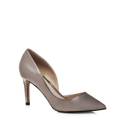 Metallic 'Jade' high stiletto pointed shoes